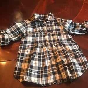 Ralph Lauren Girls Flannel Tunic